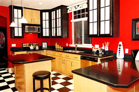 Red And Black Kitchen Ideas red kitchen ideas design bookmark 11289