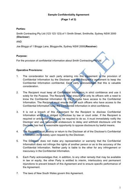 confidentiality agreement template australia 28 confidentiality agreement template 164933377 png