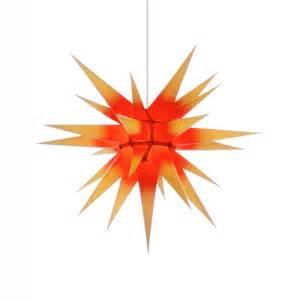 weihnachtssterne mit beleuchtung herrnhuter weihnachtsstern i7 gelb roter kern mit