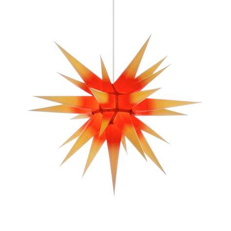 weihnachtsstern beleuchtung herrnhuter weihnachtsstern i7 gelb roter kern mit