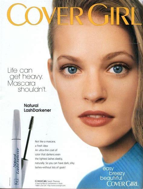 sarah thomas covergirl  magazine print ad