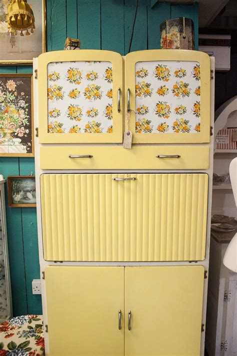 vintage kitchen cabinet this vintage yellow kitchen larder cabinet is amazing i