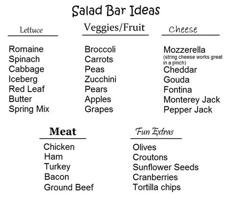 Salad Bar Toppings List by Toddler Lunches 5 Easy Solutions