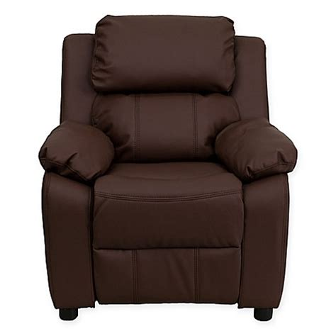 toddler leather recliner buy flash furniture leather kids recliner with storage