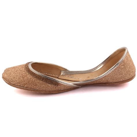 indian slippers unze bihar indian khussa slippers uk size 3 8 gold