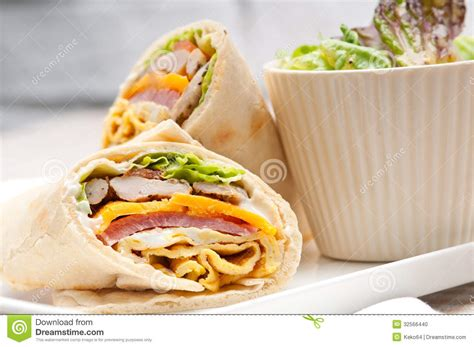Pita Organdi Roll No 5 club sandwich pita bread roll stock photo image 32566440