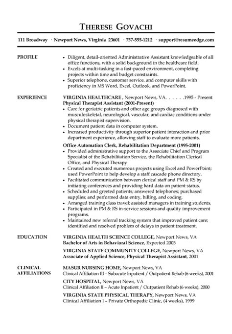 Resume Bullet Points Administrative Assistant Receptionist Resume Exle