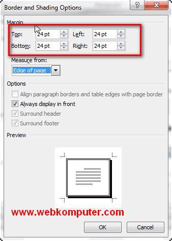 membuat border atau bingkai halaman di word 2010 membuat bingkai halaman di word 2010 page borders word