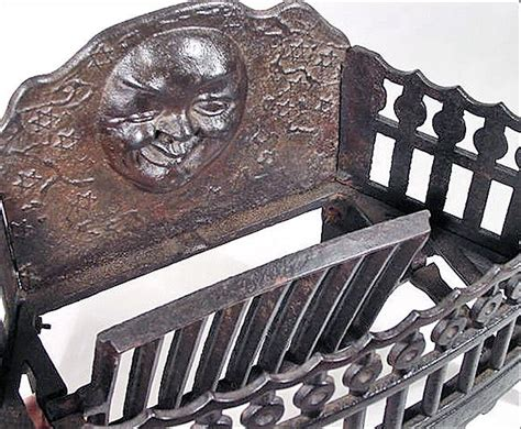 antique cast iron fireplace grate insert for wood or