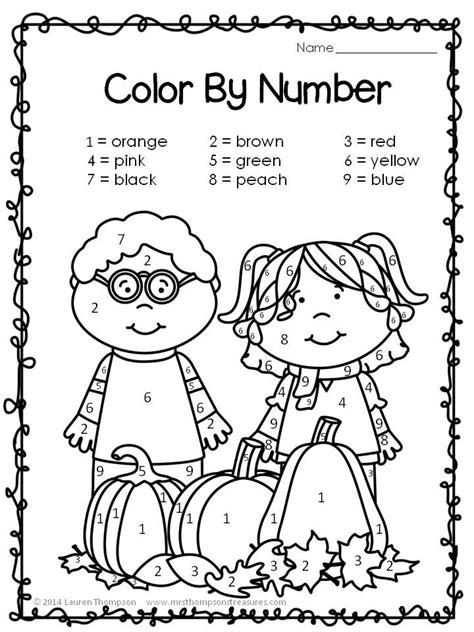 fall coloring pages color by number wonderful fall color by number worksheets pictures
