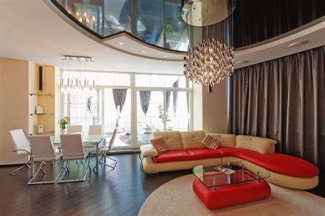 deckendesign wohnzimmer spanndecken 3d trendline