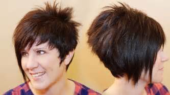 womens asymmetrical haircuts front and back how to cut womens hair short pixie assymetrical a line
