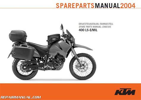Ktm Spareparts 2004 Ktm 400 Ls E Mil Chassis Spare Parts Manual