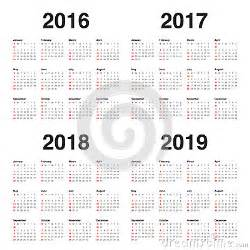 Colombia Calendrier 2018 Calendrier 2016 2017 2018 2019 Photo Stock Image 61291588