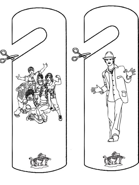 free printable high school musical coloring pages