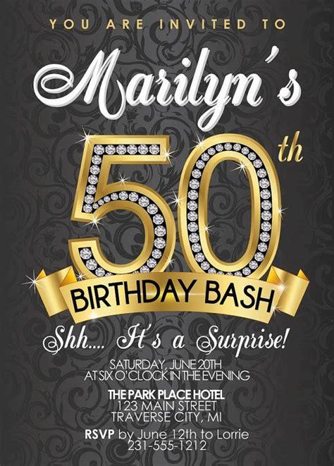 50th Birthday Invitations by 50th Birthday Invitation Birthday