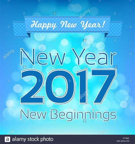 start of new year 2017 happy new year greeting vector design template new year