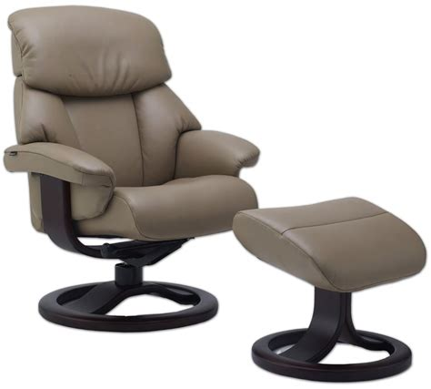 swedish recliners fjords alfa 520 ergonomic leather recliner chair ottoman