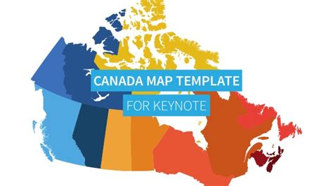 Canada Map For Powerpoint Keynote Canada Powerpoint Template