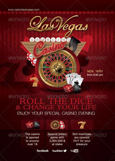 casino template casino special evening flyer graphicriver