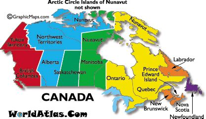 current dates and times in canada map