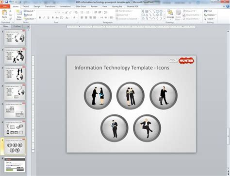 Information Technology Ppt Templates Free Information Technology Powerpoint Template