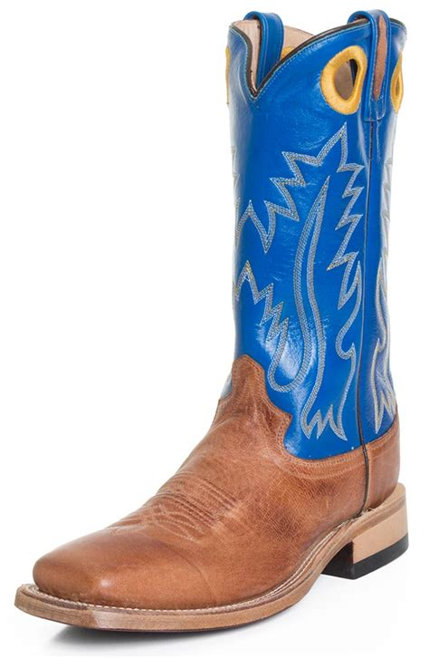 mens cowboy boots 2 inch heel west mens 13 quot square toe leather cowboy boots blue