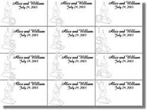 Place Card Template Microsoft Word by Guest Book And Place Card Templates