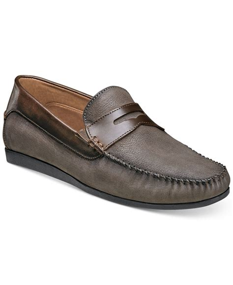 florsheim loafers for florsheim s surface loafers in brown for lyst