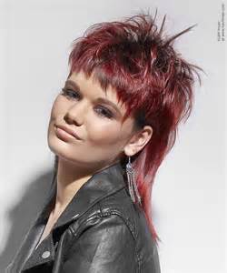 mullet hairstyles for mullet with spikes and a jagged fringe for red hair