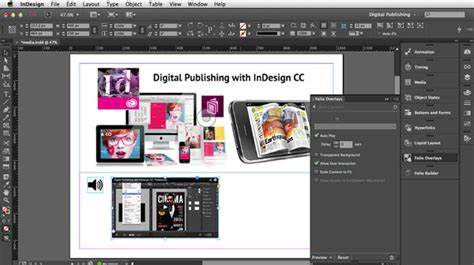 indesign tutorial for digital publishing digital publishing with indesign cc video files