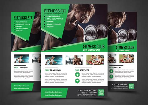 fitness brochure templates fitness flyer flyer templates flyer templates on