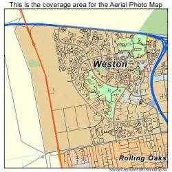 aerial photography map of weston fl florida