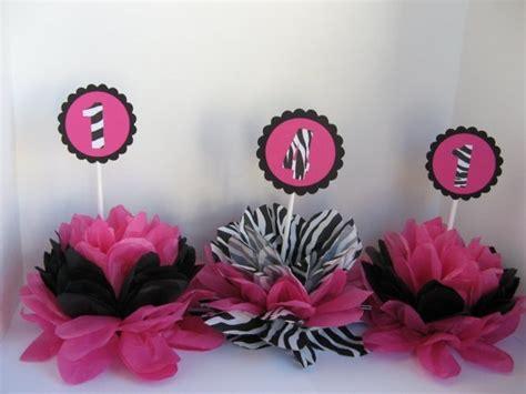 Zebra Print Decorations by Zebra Print Table Decorations Pink Zebra
