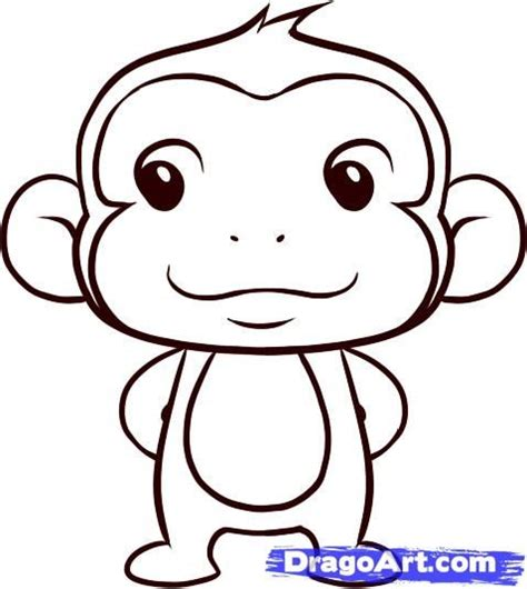 how to draw new year monkey easy monkey sketches search baby stuff