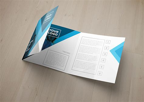 Eagas Tri Fold Square Brochure Template On Behance Square Trifold Brochure Template