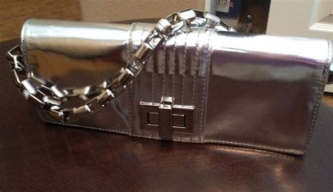 Kooba Penelope Patent Clutch kooba silver metallic penelope patent leather clutch chain