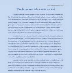 Social Work Essay Exles by Why Do You Want To Be A Social Worker Why Do You Want To
