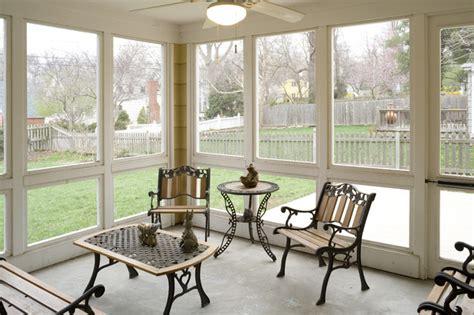 cape cod addition screened porch interior traditional