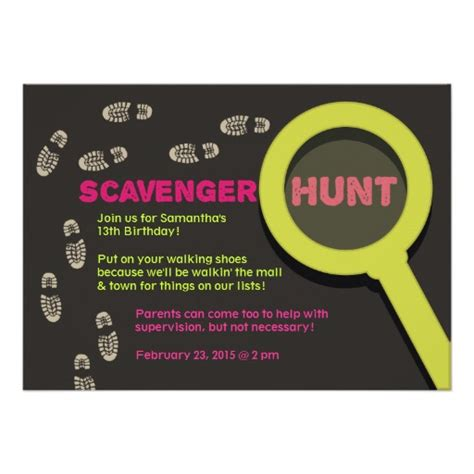 reception scavenger hunt card templates free printable scavenger hunt birthday invitations