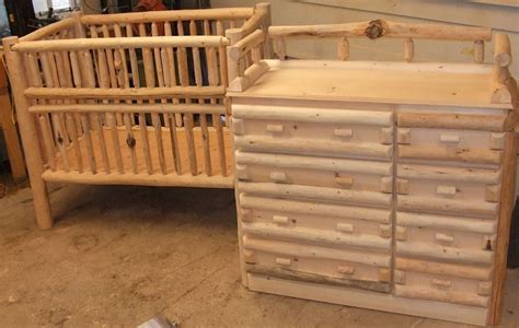 Log Crib by Log Baby Crib And Changing Table Dreser Toddler