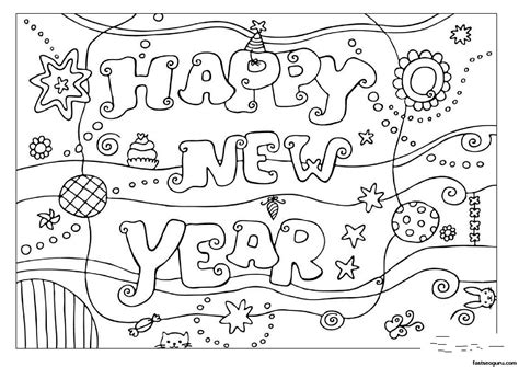coloring pages happy new year 2013 printable coloring