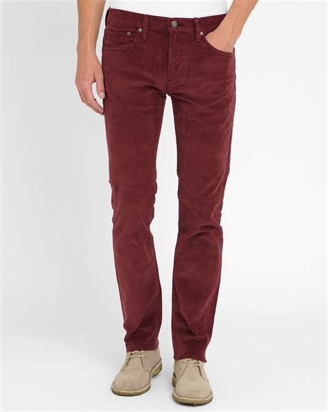 Jaket Sweater Hoodie Levis Maroon levi s burgundy 511 velvet slim fit trousers in for burgundy lyst