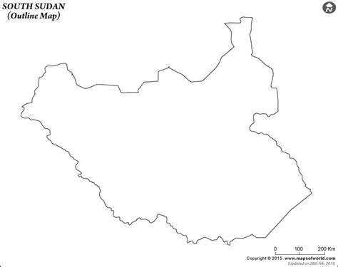 South Sudan Map Outline by Blank Map Of South Sudan South Sudan Outline Map