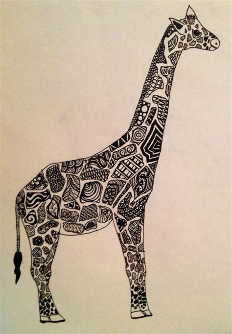 zentangle pattern giraffe giraffe zentangle zendoodle my artwork pinterest