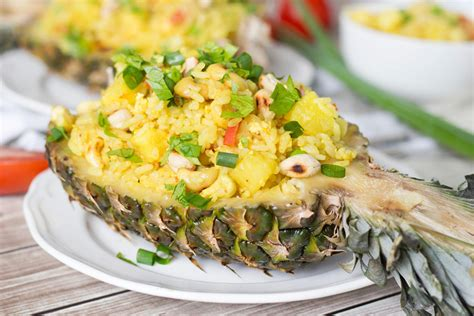 thai pineapple fried rice with chicken yummy addiction