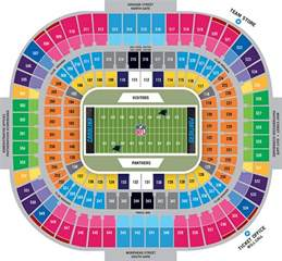 of stadium map carolina panthers stadium seating chart autos post