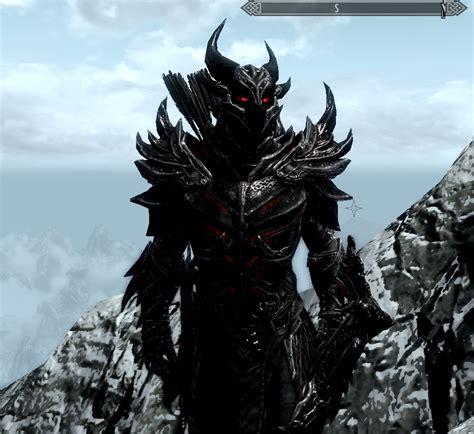 skyrim dragon armor retexture daedric armor retexture at skyrim nexus mods and community