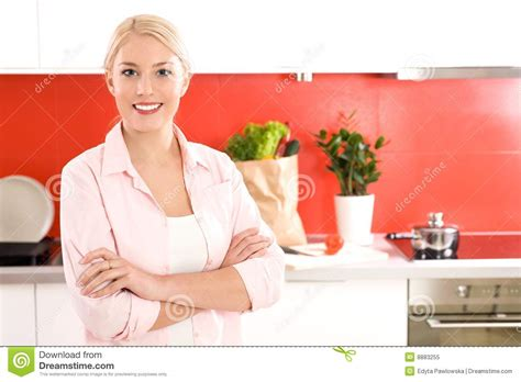 Standing In The Kitchen by Standing In Kitchen Royalty Free Stock Photo Image