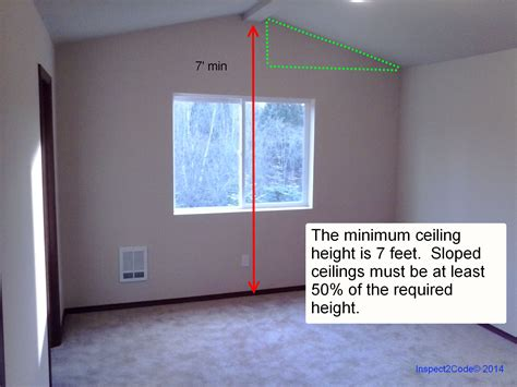 Building Code Ceiling Height by Residential Code Requirment For Ceiling Height